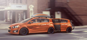 Chevrolet All New Aveo with trailer