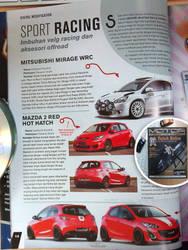 Modifikasi Mirage and Mazda2 di Majalah MOTOR