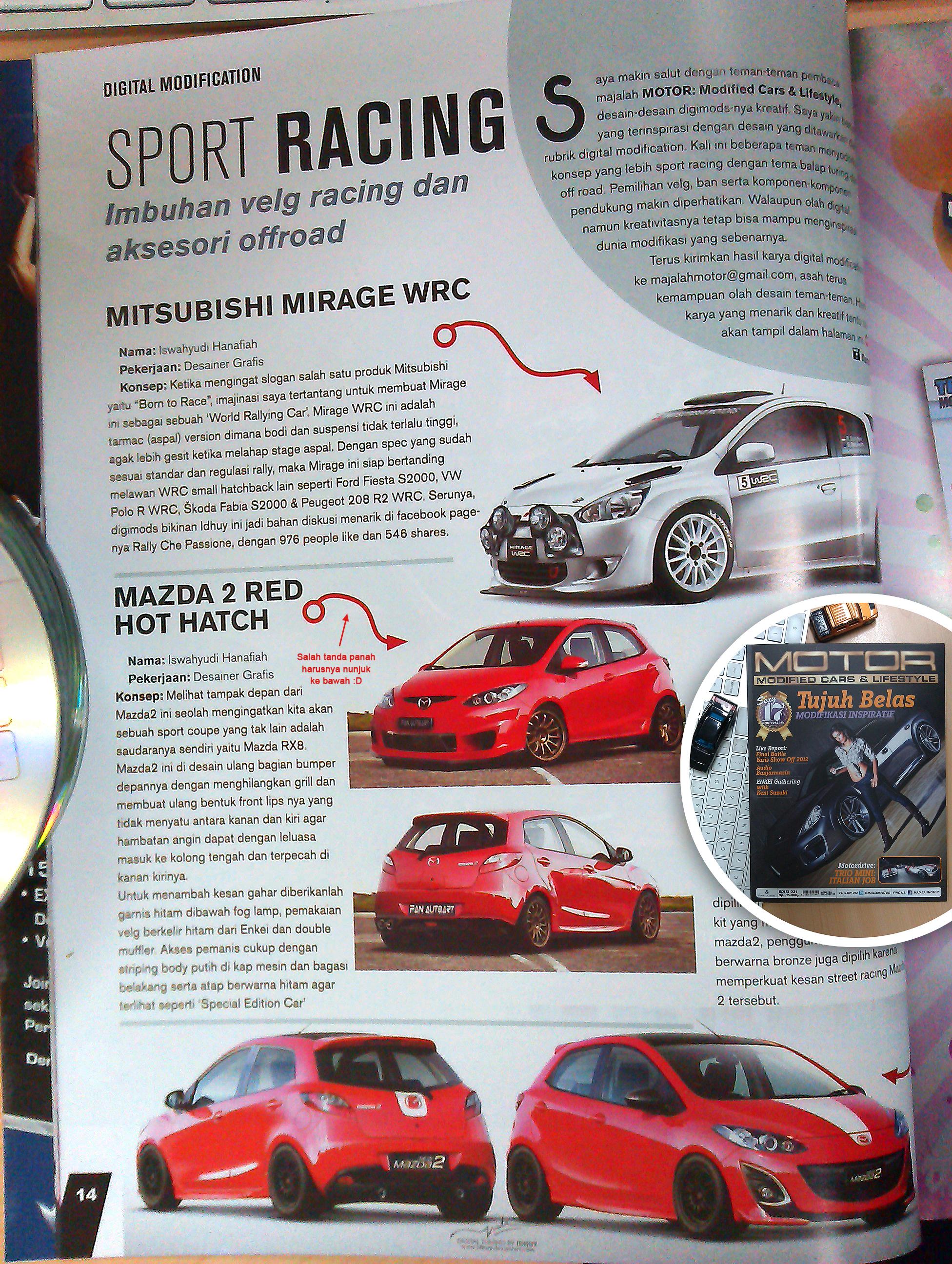 Modifikasi Mirage and Mazda2 di Majalah MOTOR by idhuy
