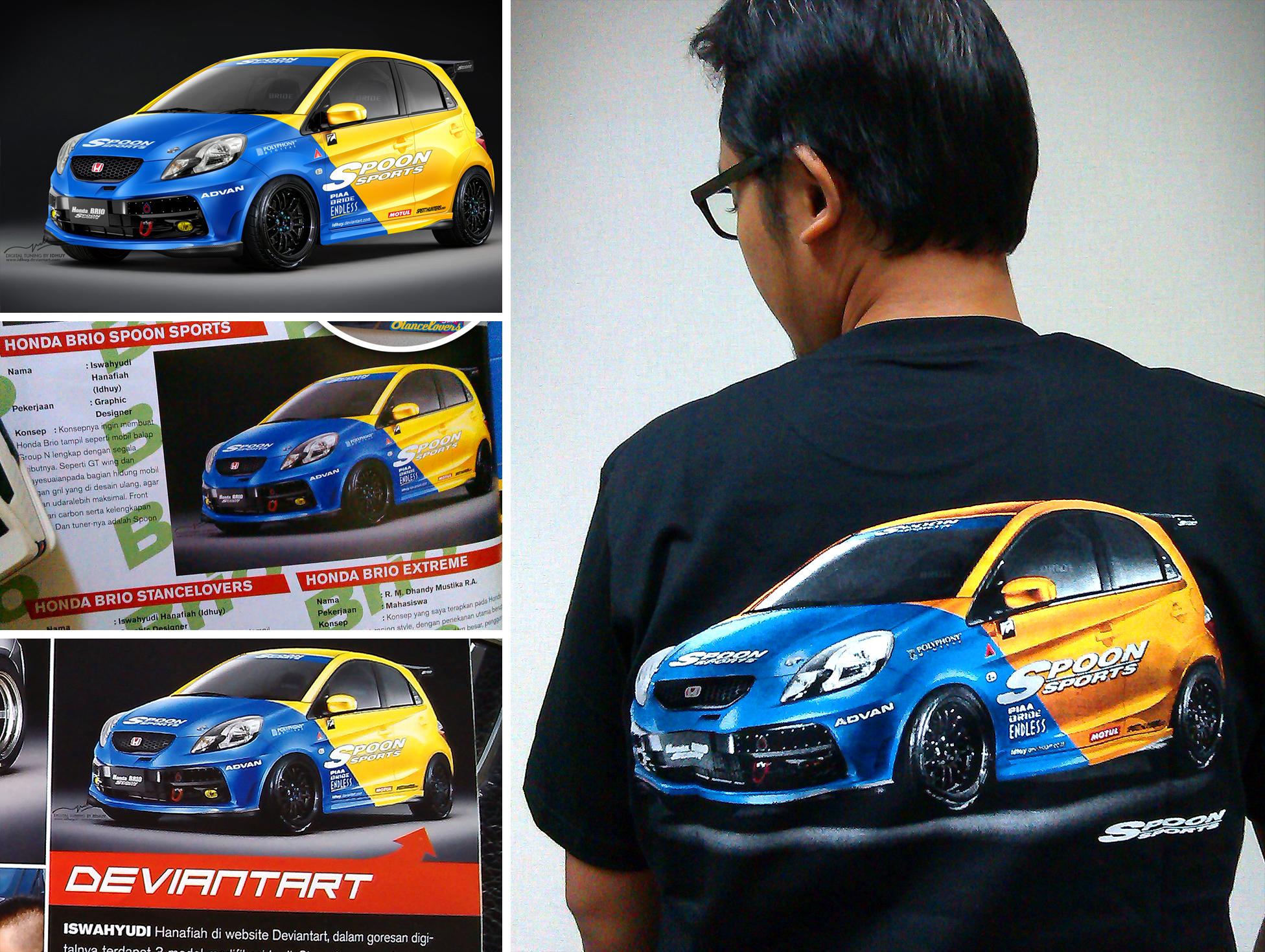Honda Brio T-shirt by idhuy