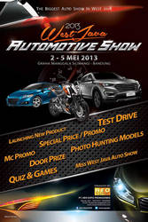 Poster Promo for West Java Automotive Show 2013