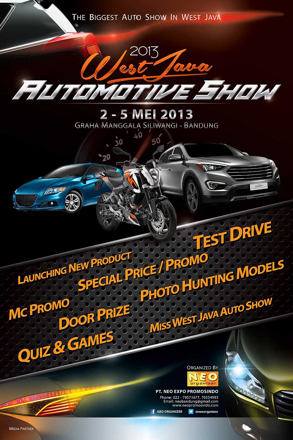 Poster Promo for West Java Automotive Show 2013 by idhuy