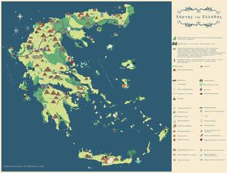 Map of Greece by AmAndArInI