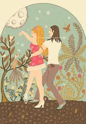 Dancers by AmAndArInI
