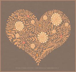 Heart abstract by AmAndArInI