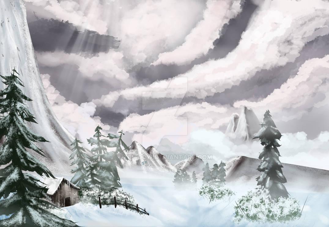 Winter Mist (Bob Ross)
