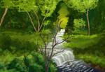 Quiet Stream (Bob Ross) by Zee-qow