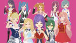 VRoid AKB0048 Sucessors by Zee-qow