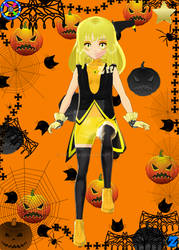 VRoid Mico - Halloween Witch by Zee-qow