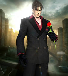 Jin Kazama rose by xkalipso