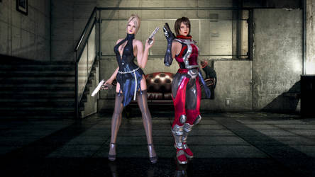 Anna and Nina Williams - Death by Degrees by xkalipso