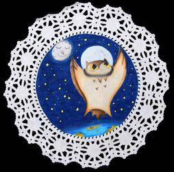Space Owl by twirler56