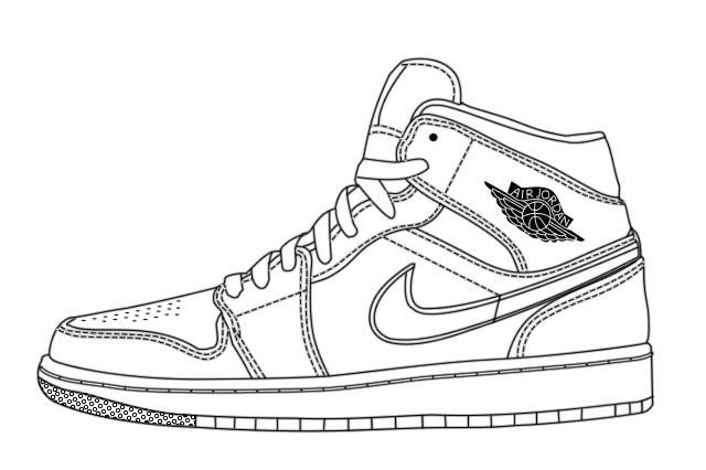 Jordan Shoe Vector