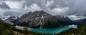 Peyto Lake with Sunglasses