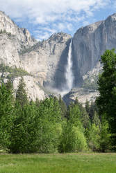 Yosemite Falls from the Road by eegariM