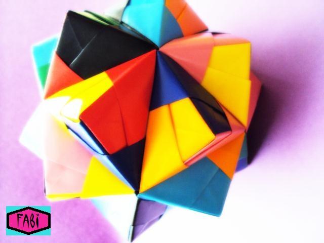 Origami Triambic Icosahedron by 00Naru00Icosahedron Origami