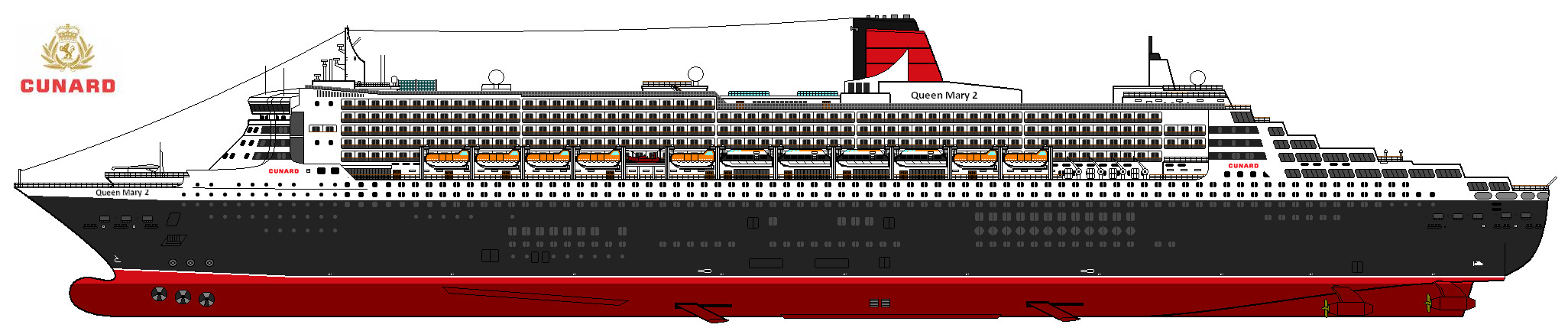 Queen Mary 2 By Lupin3ita On Deviantart