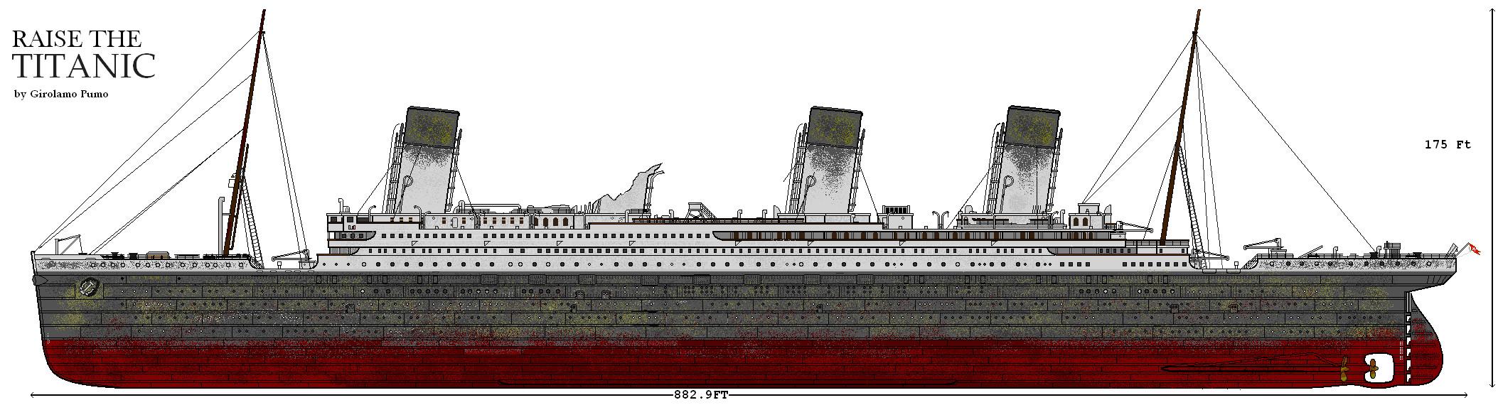 ship 'raise the titanic' by lupin3ITA on DeviantArt Raising The Titanic