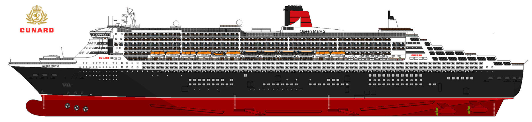 new project: Queen Mary 2 by lupin3ITA