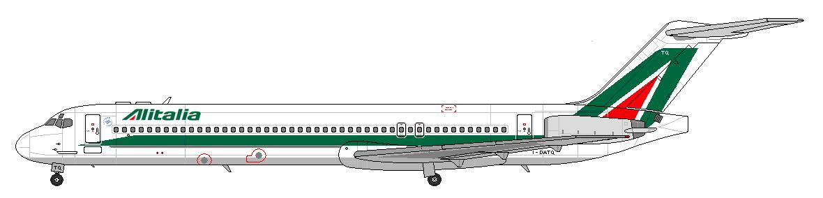 MD-80 Alitalia by lupin3ITA