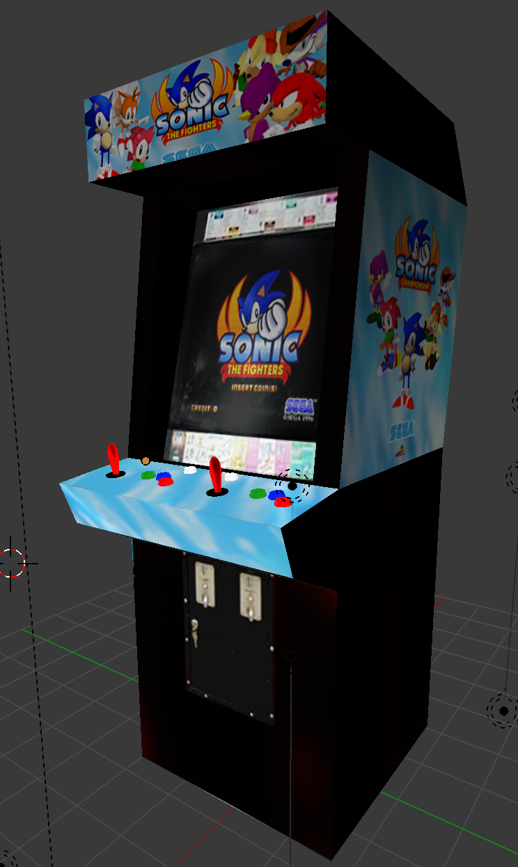 Sonic The Fighters Arcade Cabnet Model By Nibroc Rock On