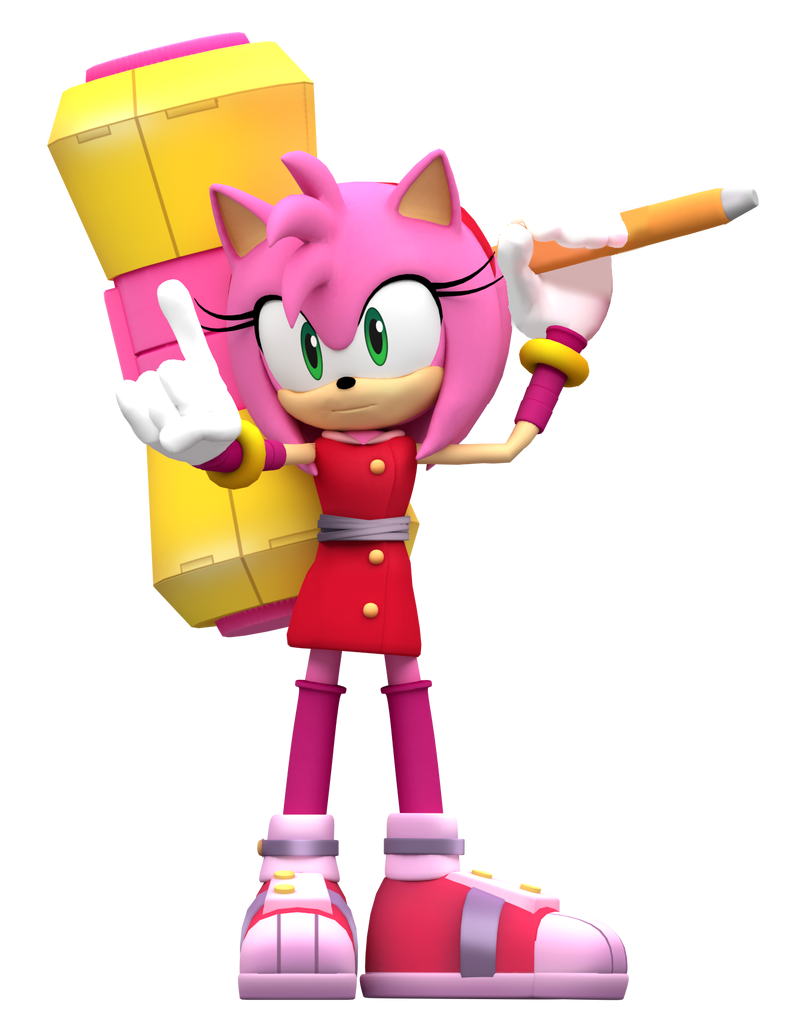 Sonic boom Amy Render! by NIBROCrock