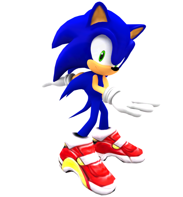 SA2 Sonic Render by Nibroc-Rock