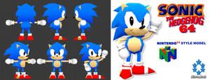 Classic Sonic 64 Styled Model