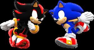 Sonic Vs SHadow Head to Head!