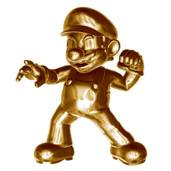 Metal (gold) Mario 3/4