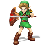 Young Link, Smash Bros Style Render