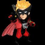 Wonder Red, Smash Bros Style Render
