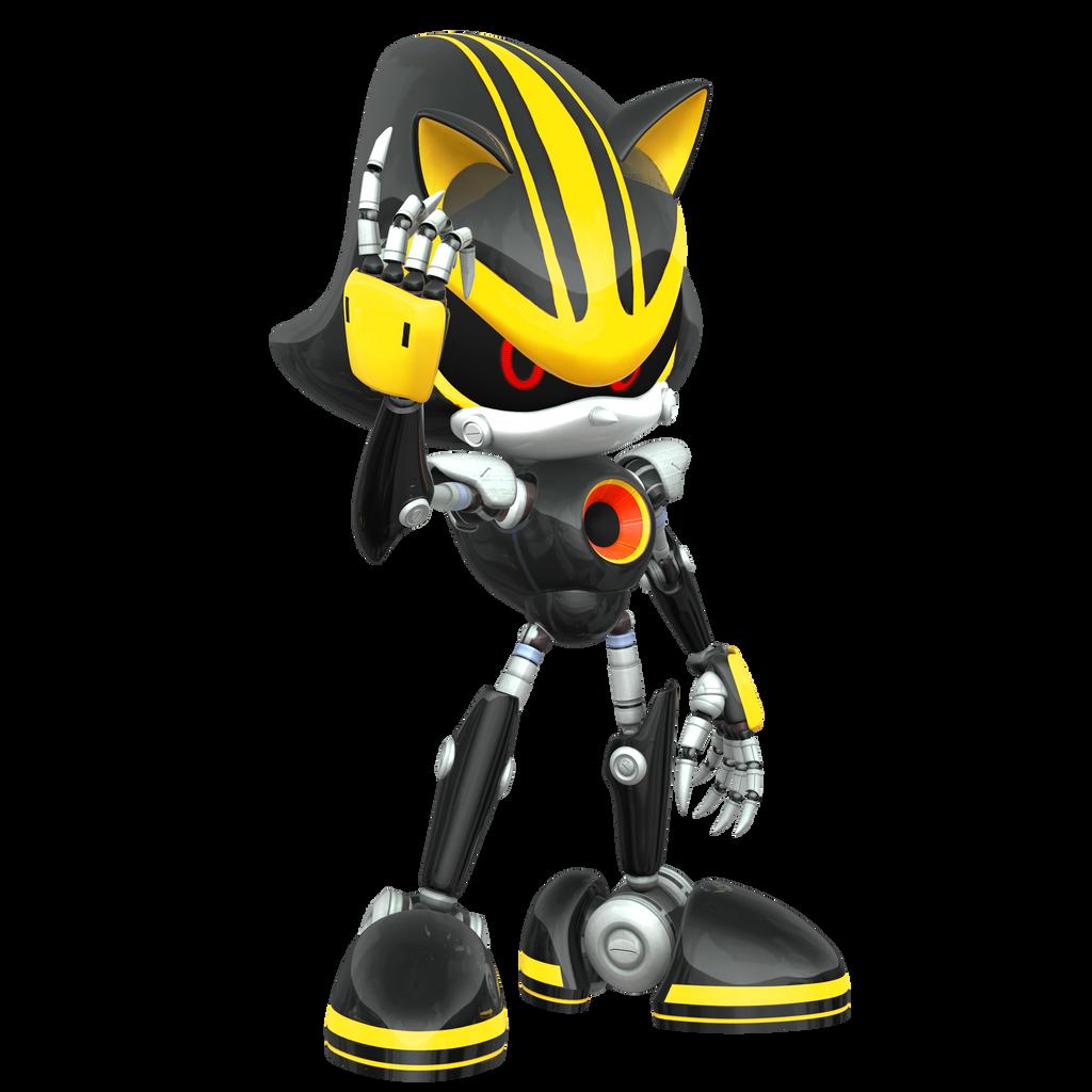 Eggman Nega Sends Metal Sonic Nibroc Rock