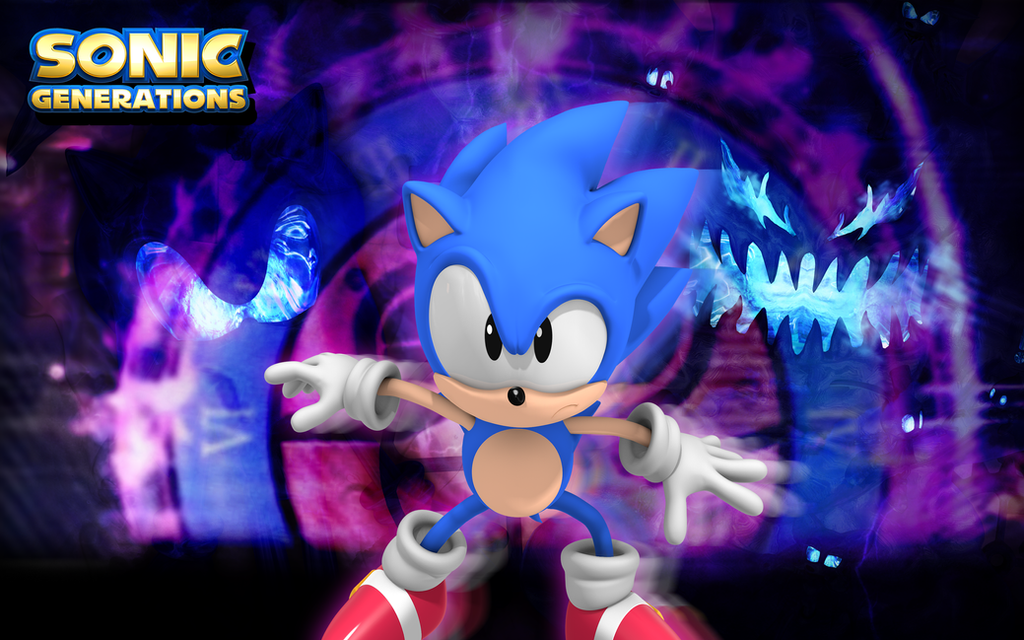 Classic Sonic VS Time Wallpaper By Nibroc Rock