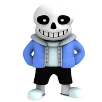 Sans from undertale, render by Nibroc-Rock