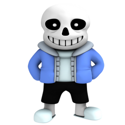 Sans from undertale, render