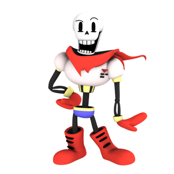 Papyrus, from undertale, render by Nibroc-Rock