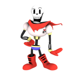 Papyrus, from undertale, render