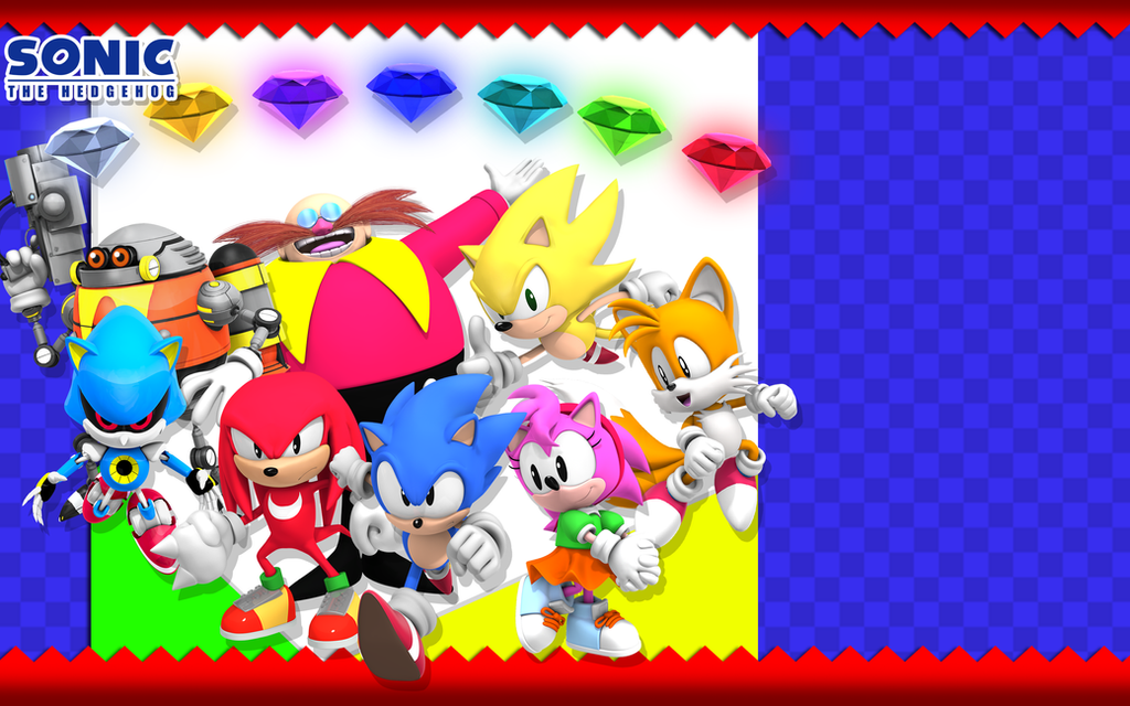 Classic Sonic Themed Wallpaper By Nibroc Rock