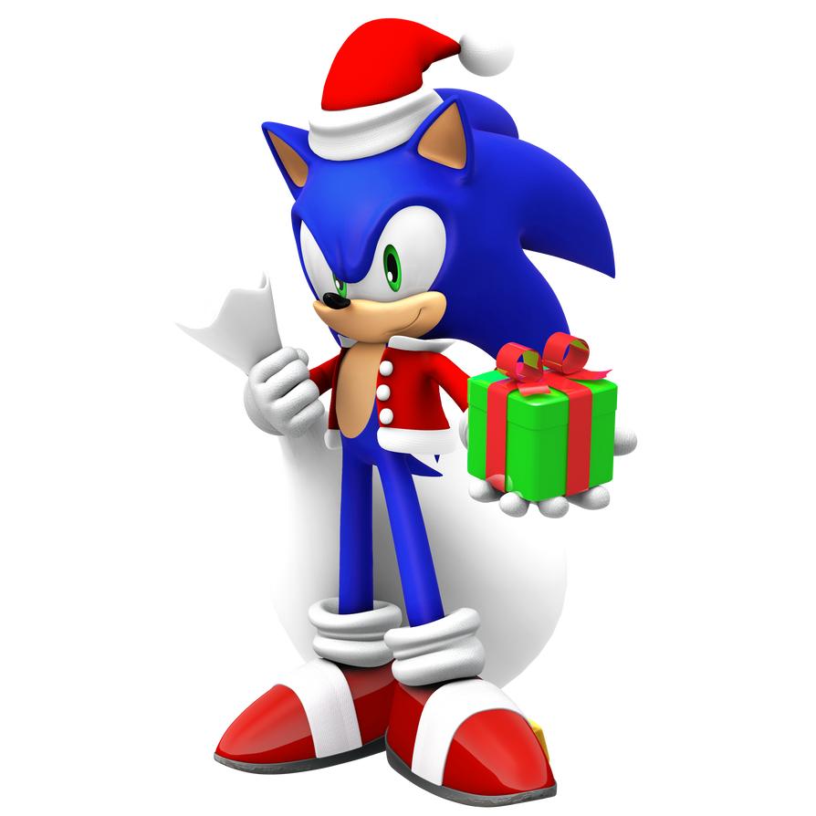 Modern Christmas Sonic by Nibroc-Rock on DeviantArt