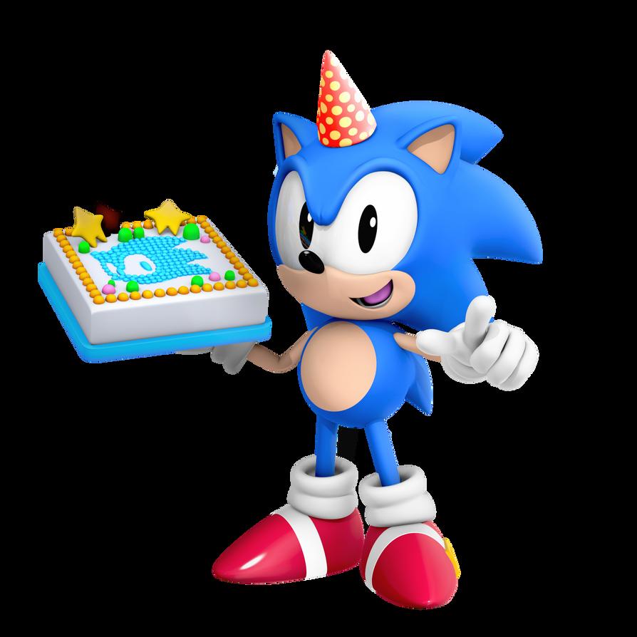 Classic Sonic Birthday Render By Nibroc Rock On Deviantart