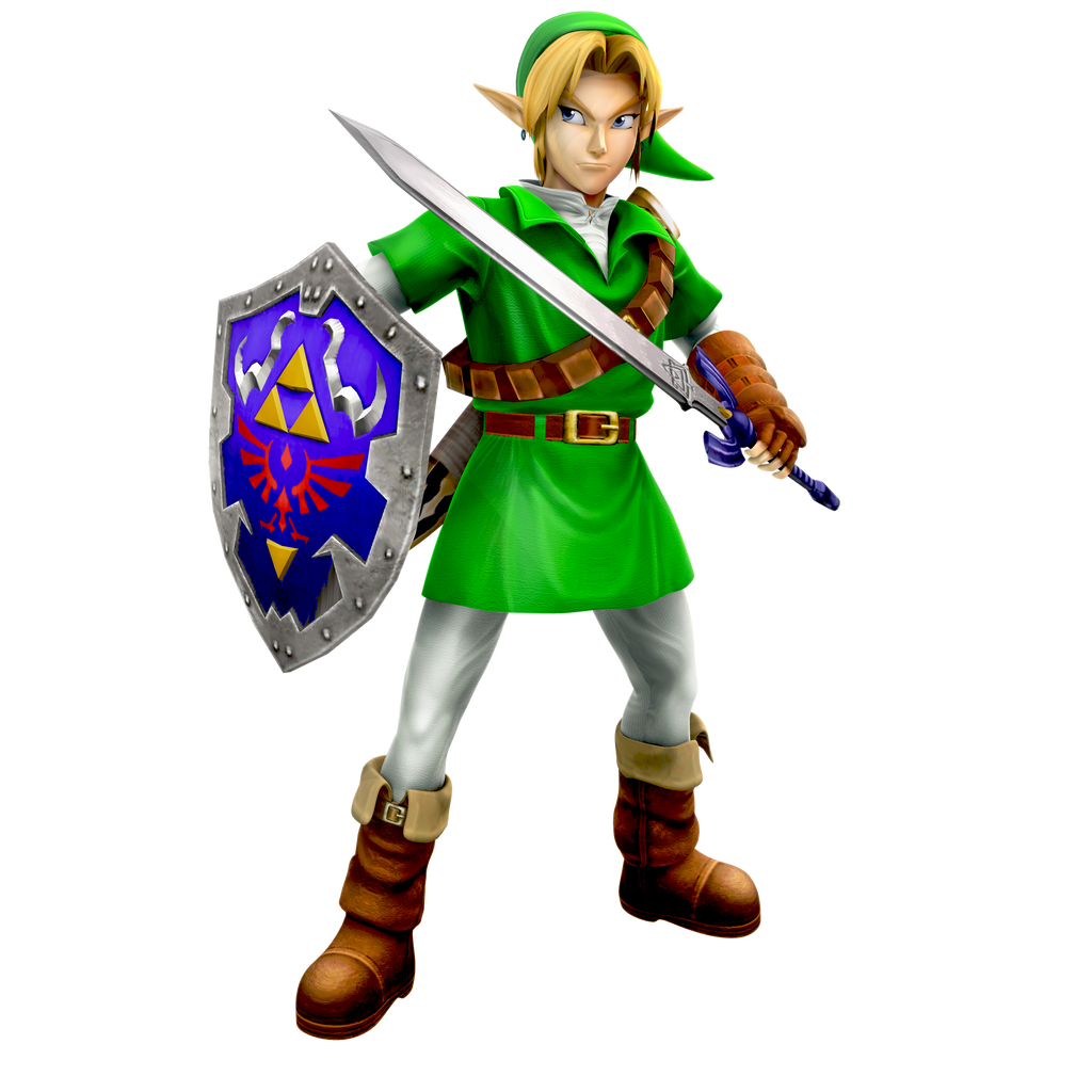 Ocarina of Time: Adult Link Render by Nibroc-Rock on ...