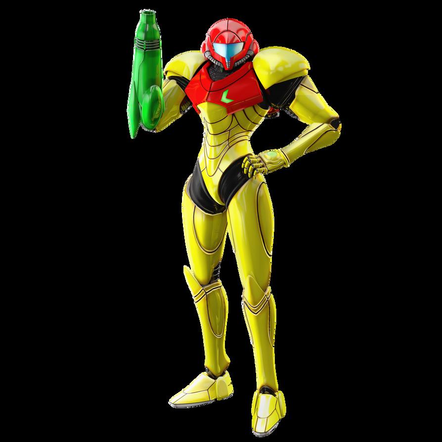metroid samus power suit render by nibrocrock on deviantart