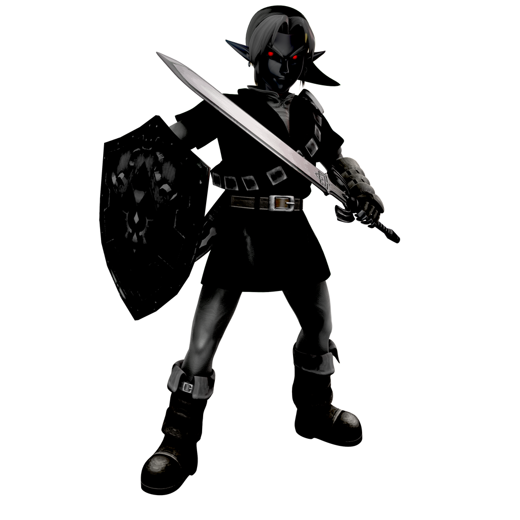 Ocarina of Time: Dark Link Alt Render by Nibroc-Rock on ...