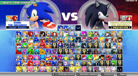 Sonic Character Select ''Ultimate Edition'' mockup by Nibroc-Rock