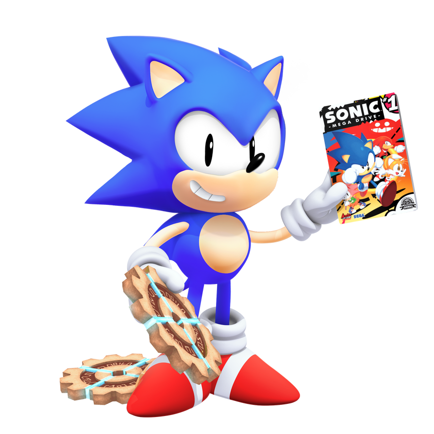 Classic Sonic: Tyson Heese Style In 3D By Nibroc-Rock On