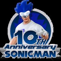 Sonicman's 10th anniversary logo by Nibroc-Rock