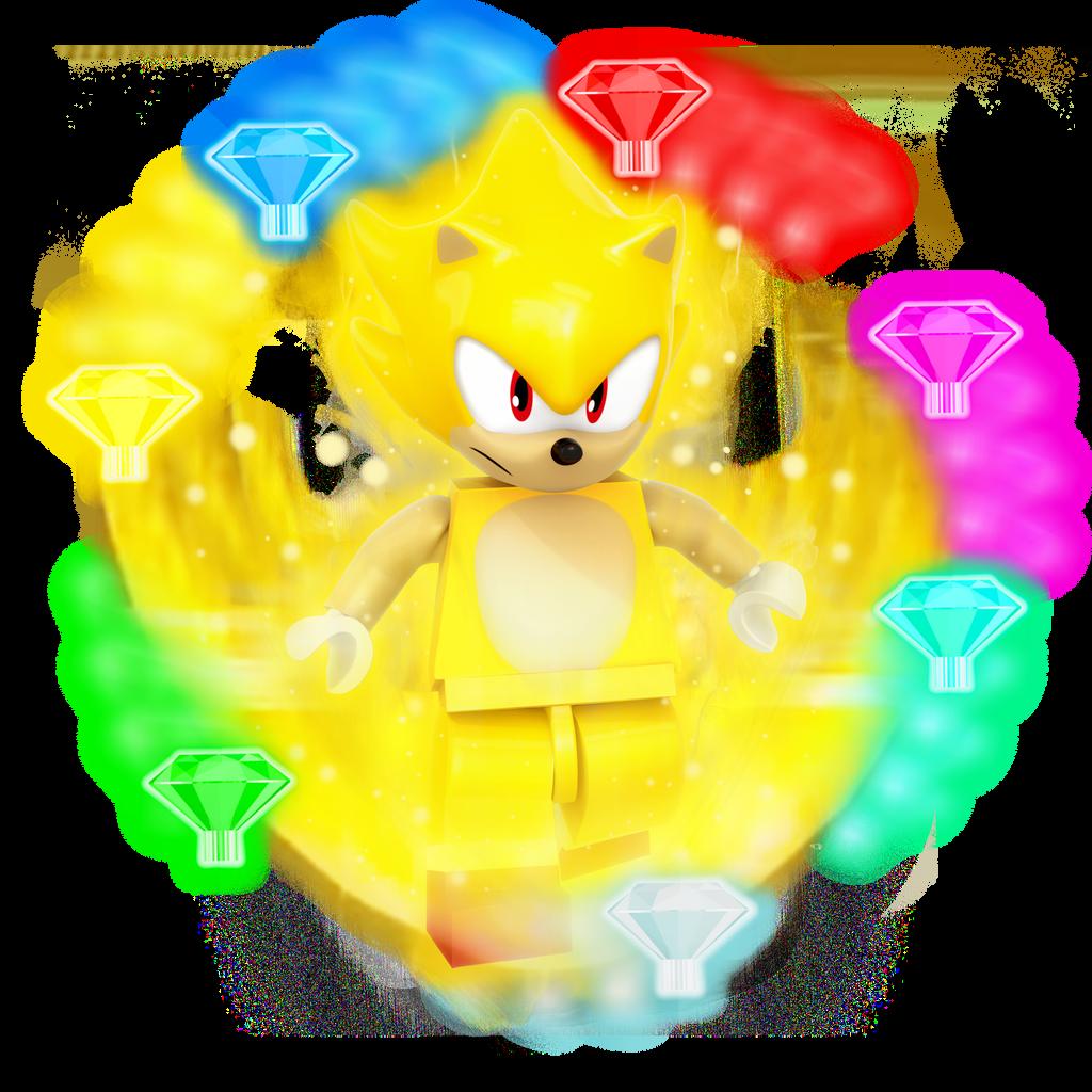 Lego Super Sonic Render