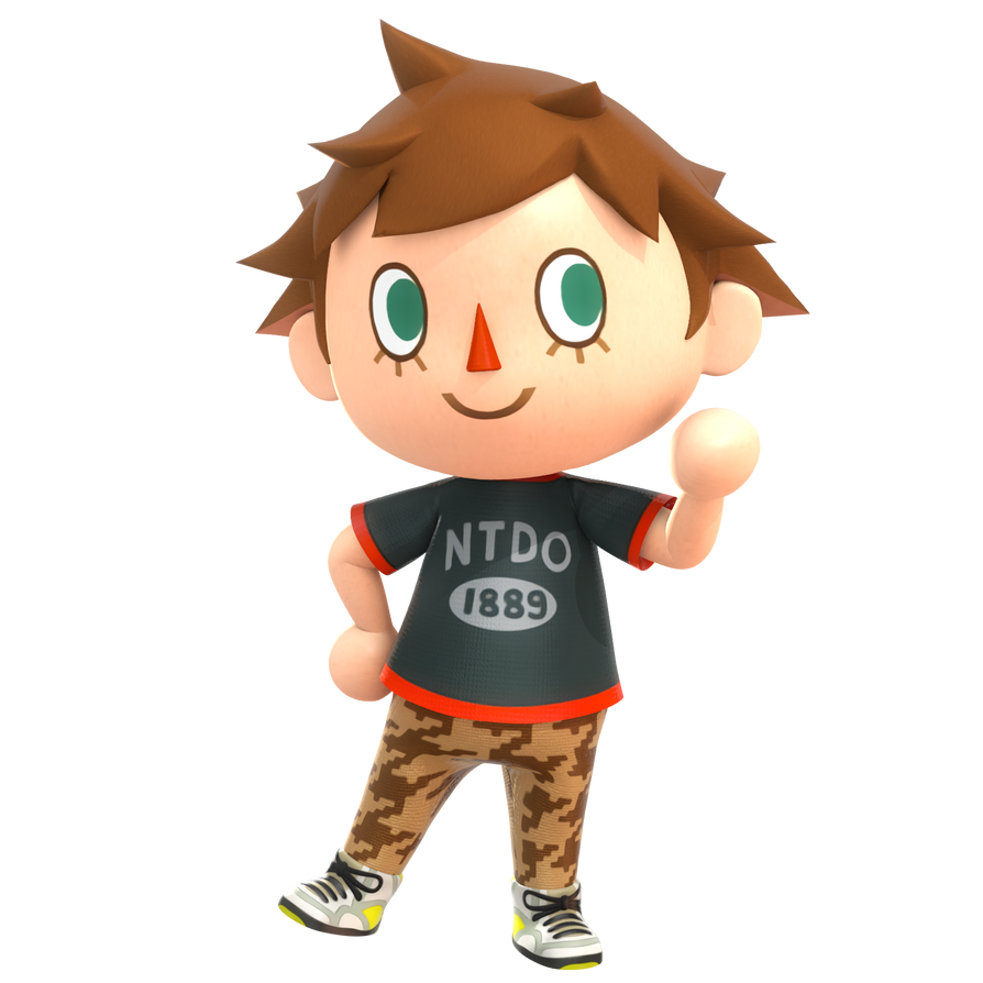 Alternate outfits I would like to see in Super Smash Bros Ultimate  Villager_new_leaf_render__smash_4_pose_by_nibroc_rock-dax8mno