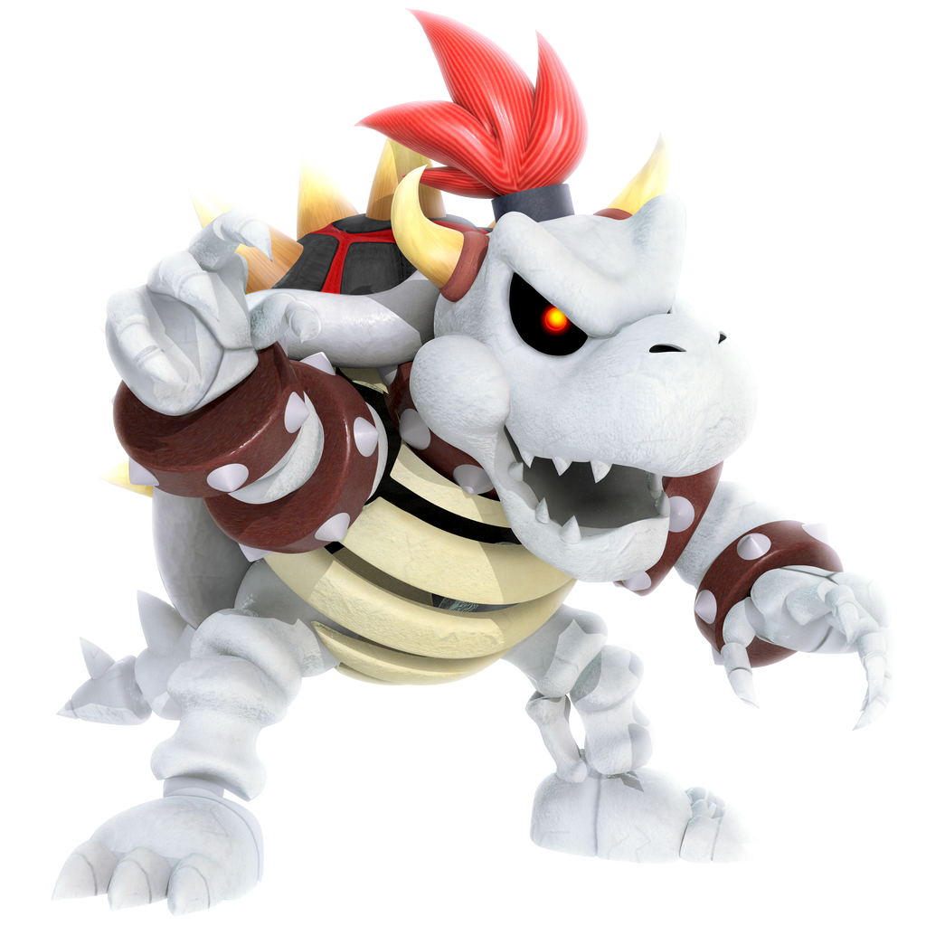 Dry Bowser New Render By Nibroc Rock On Deviantart